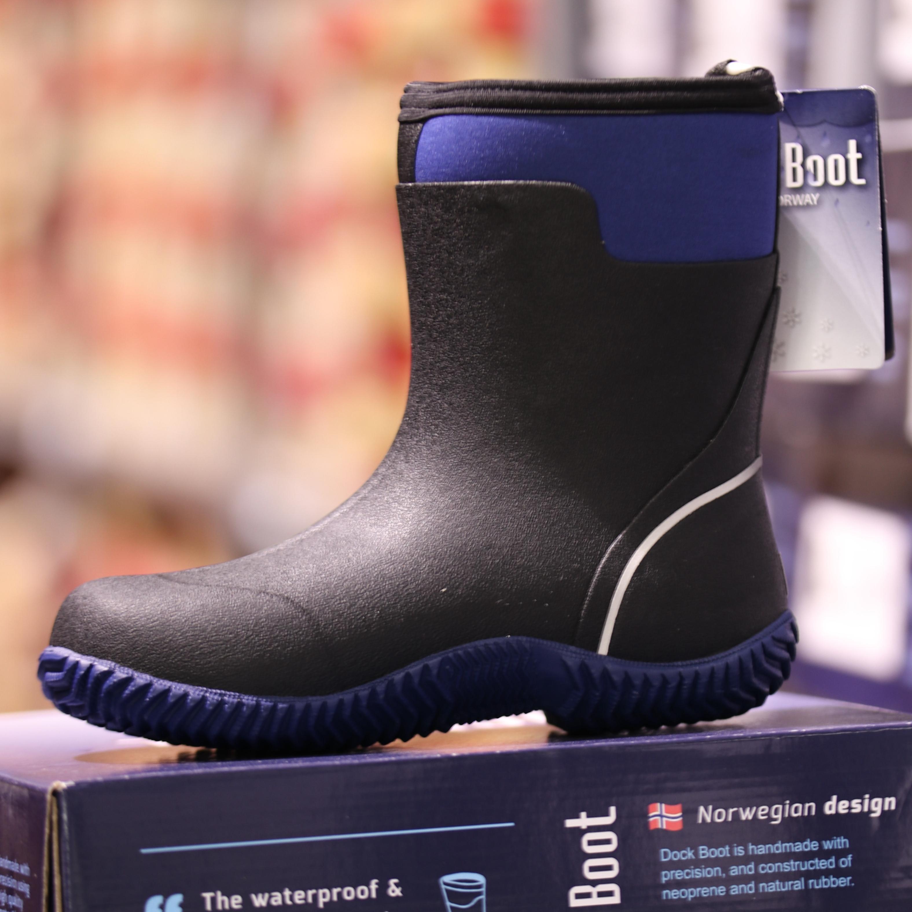 dockboot – alf blå : sort gummistøvel2
