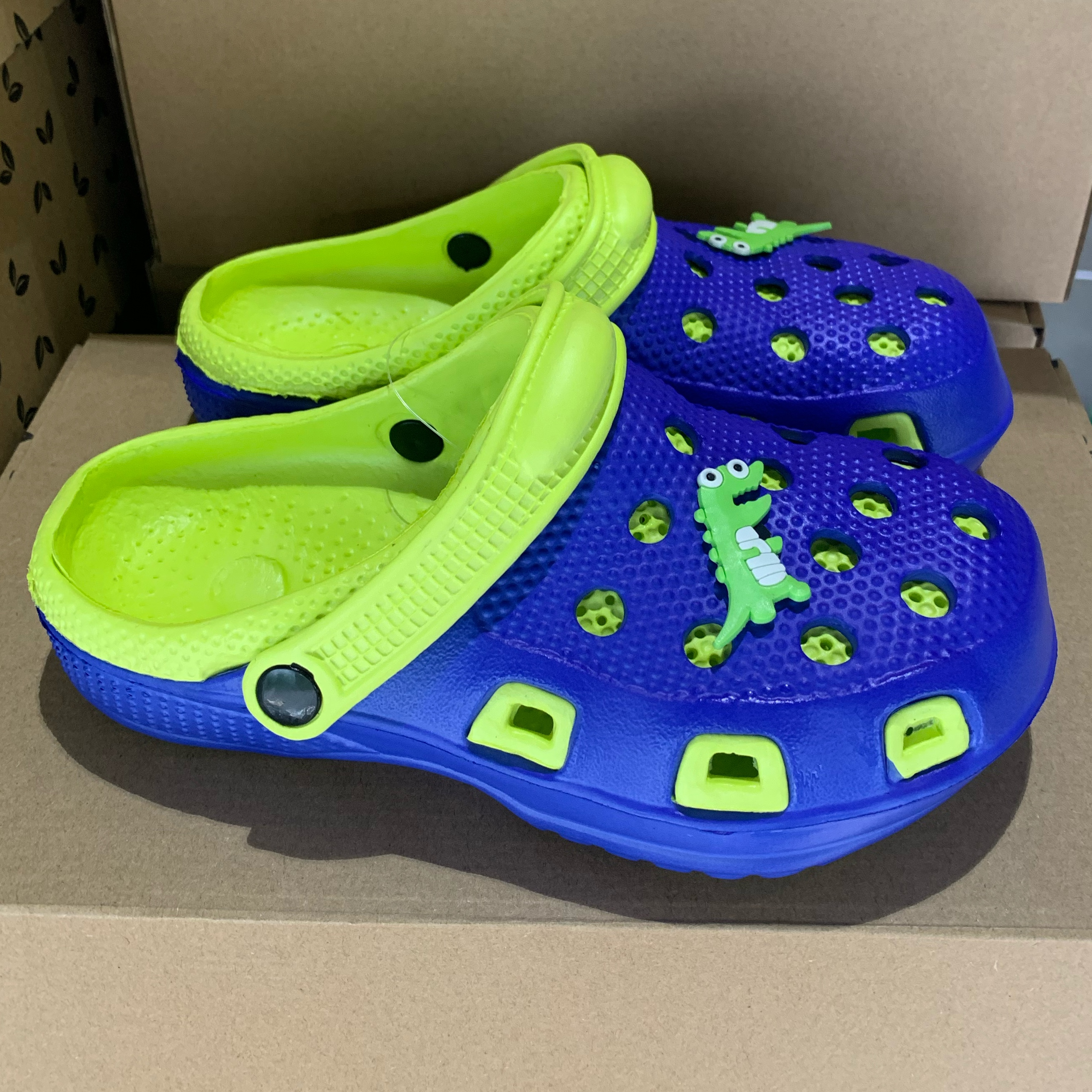 clogger krokodille blå:grønn1