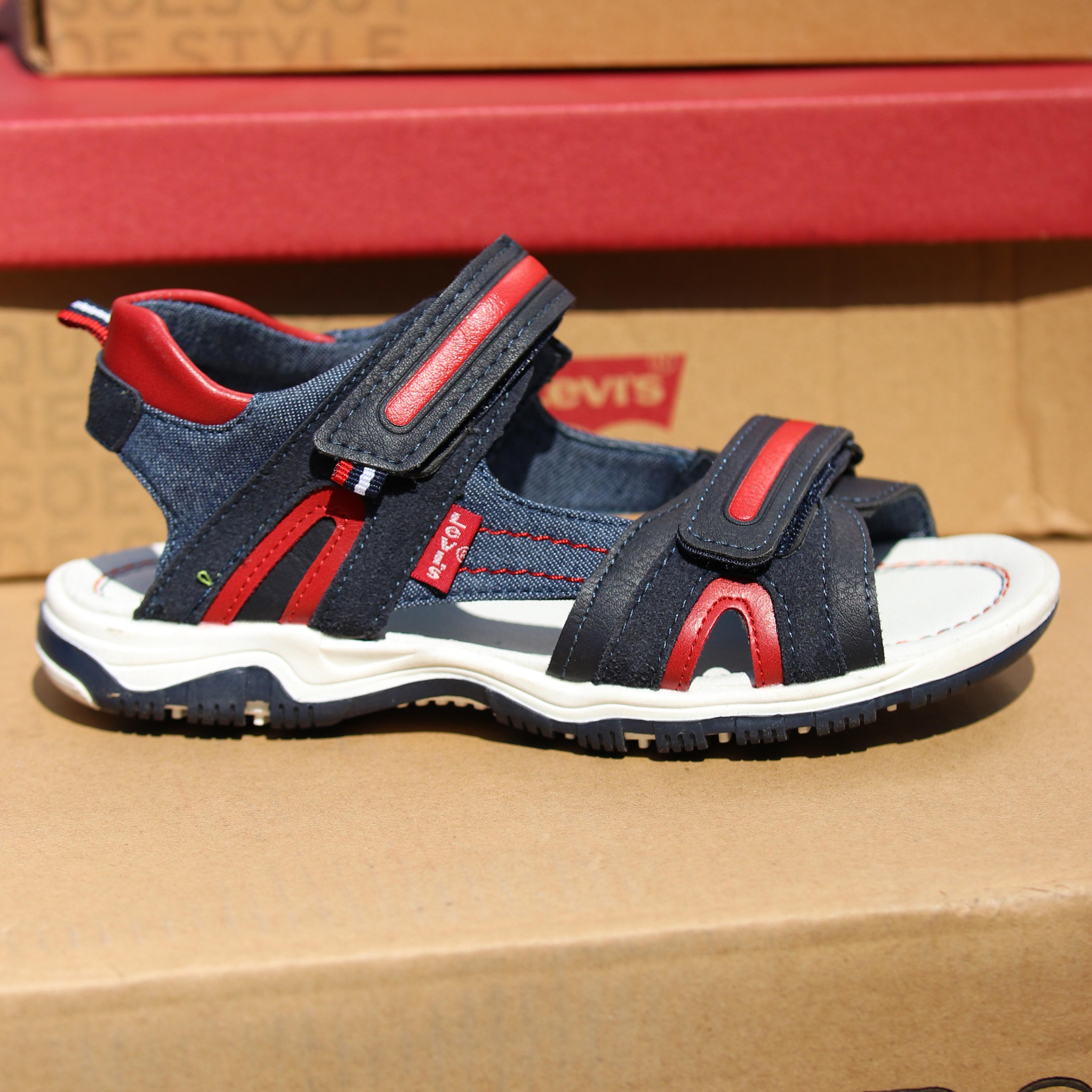 levis – davenport sandal blå : rød2