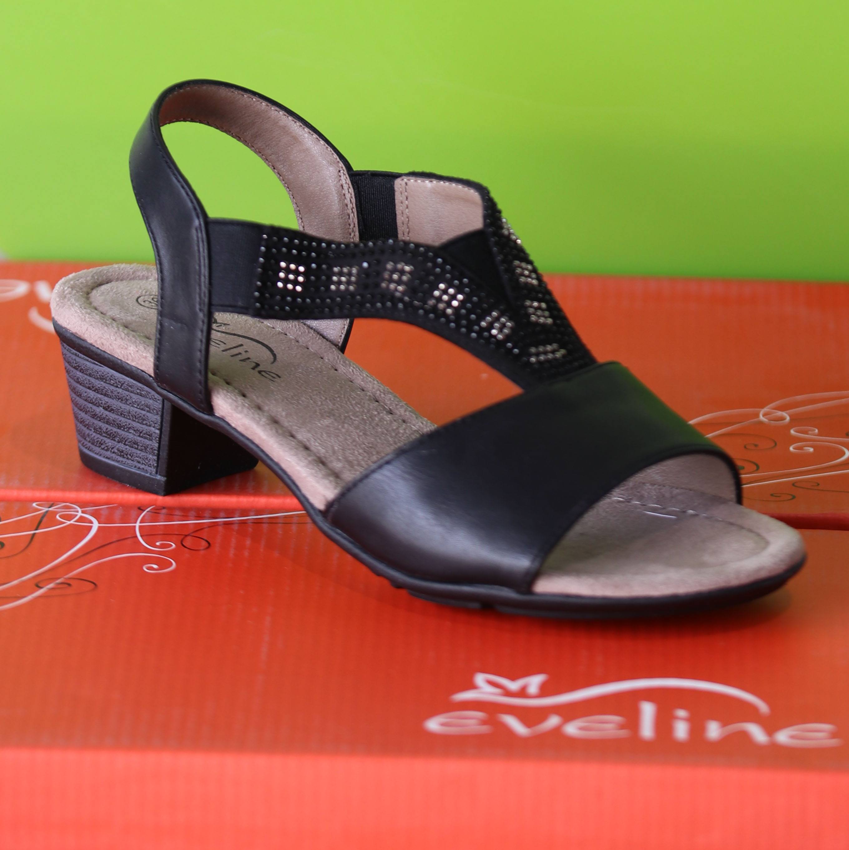 eveline sandal sort sommer dame 2