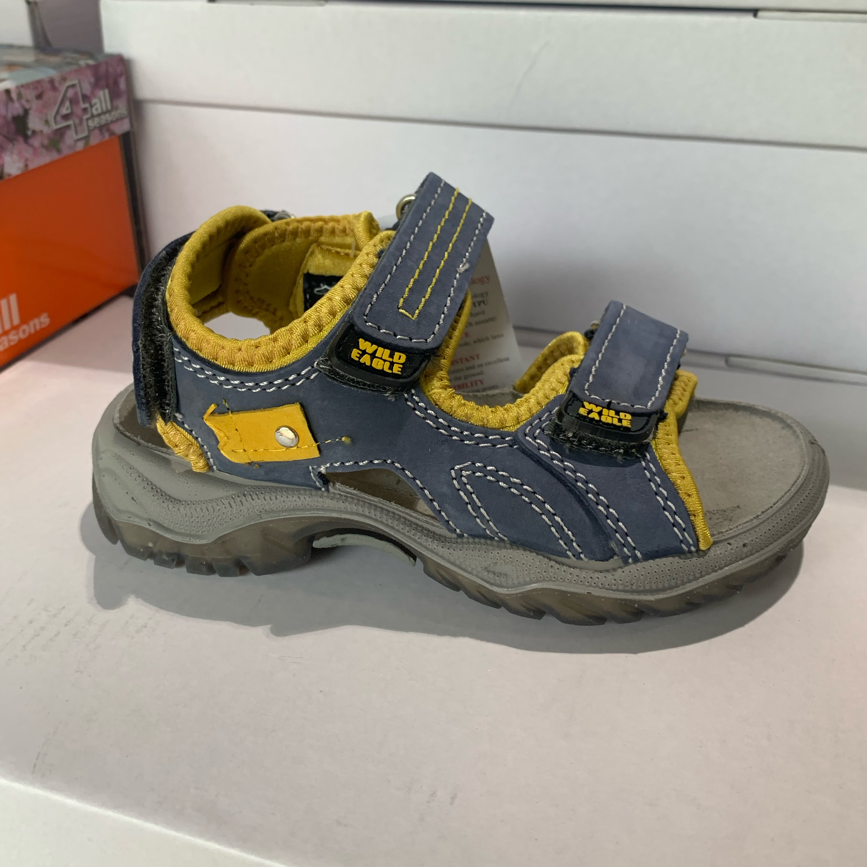 orion blå barne sandal1