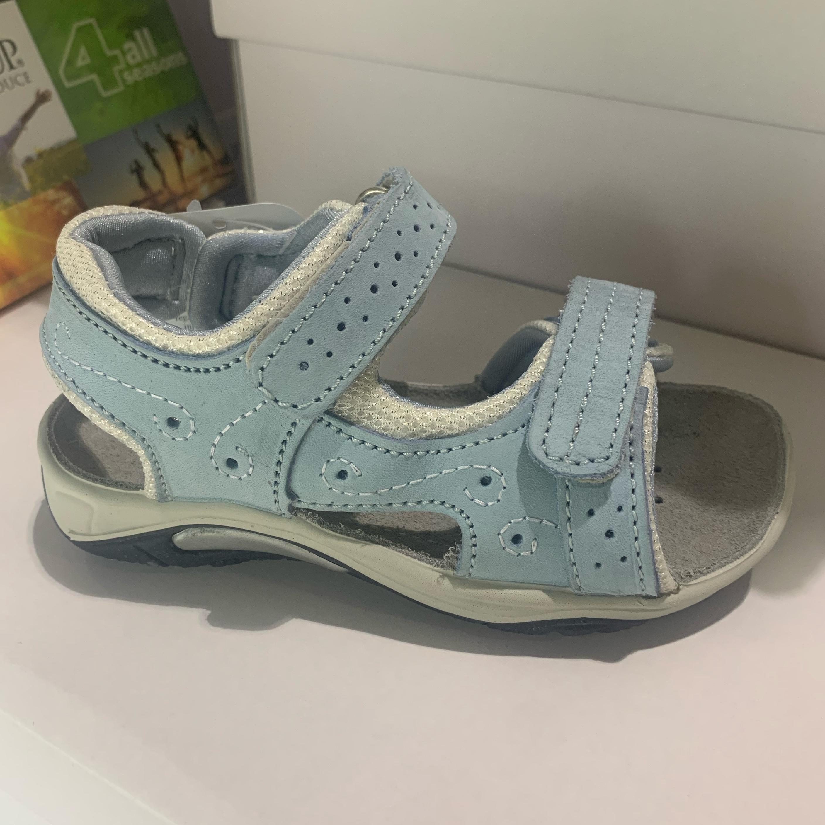 orion lyseblå barne sandal1