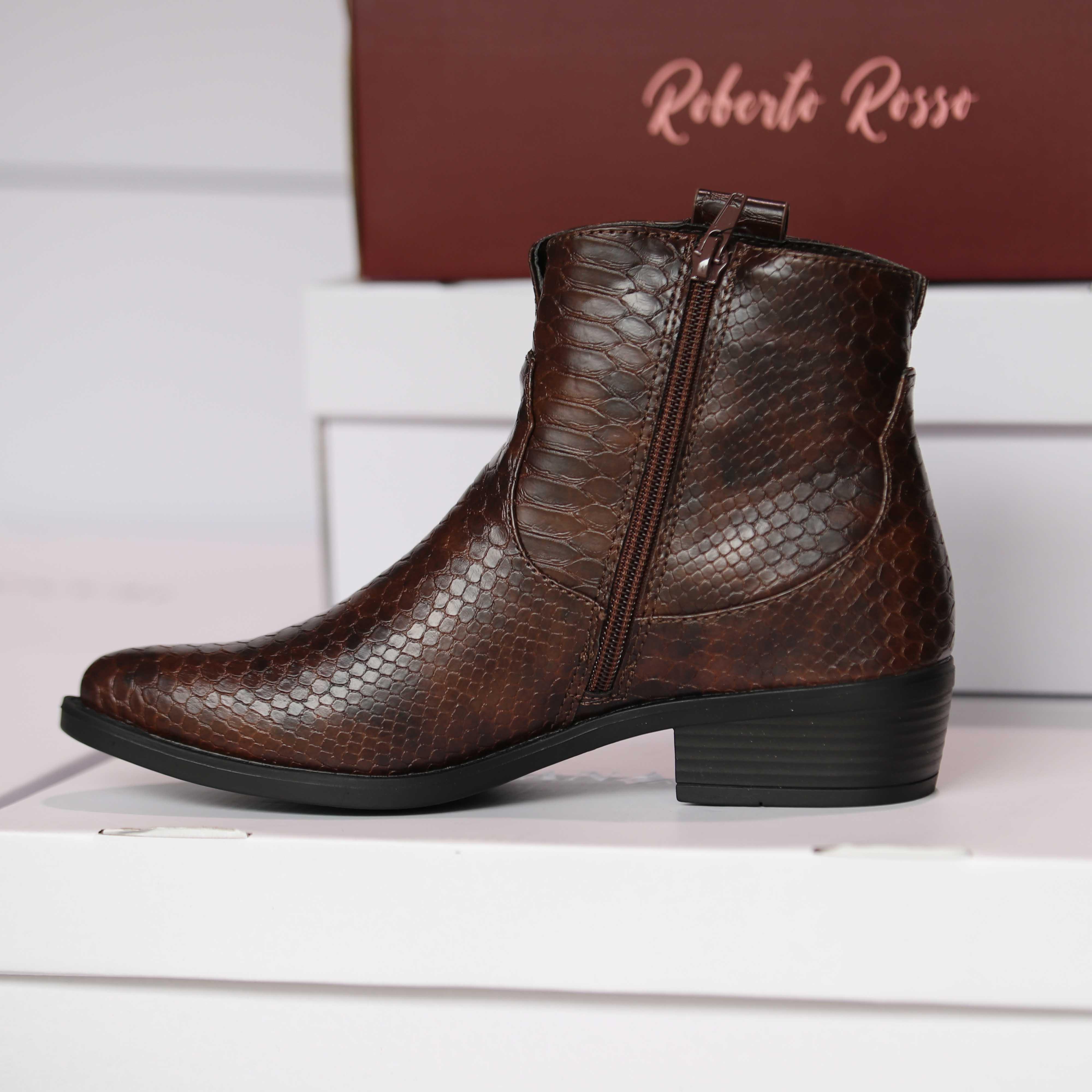 roberto rosso susy brown croco dame sko høst1