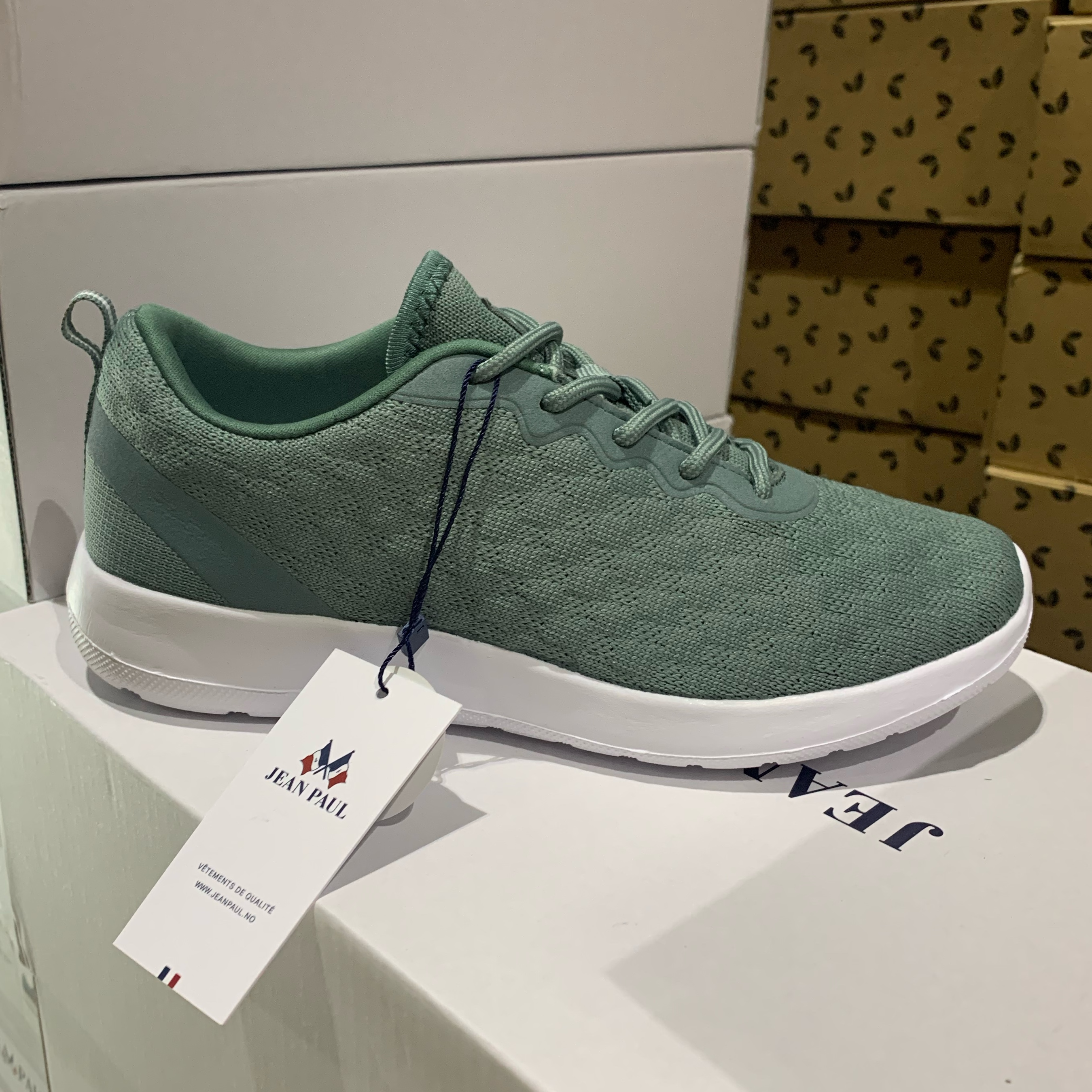 jean paul – fleur ll green sneakers dame sommersko5