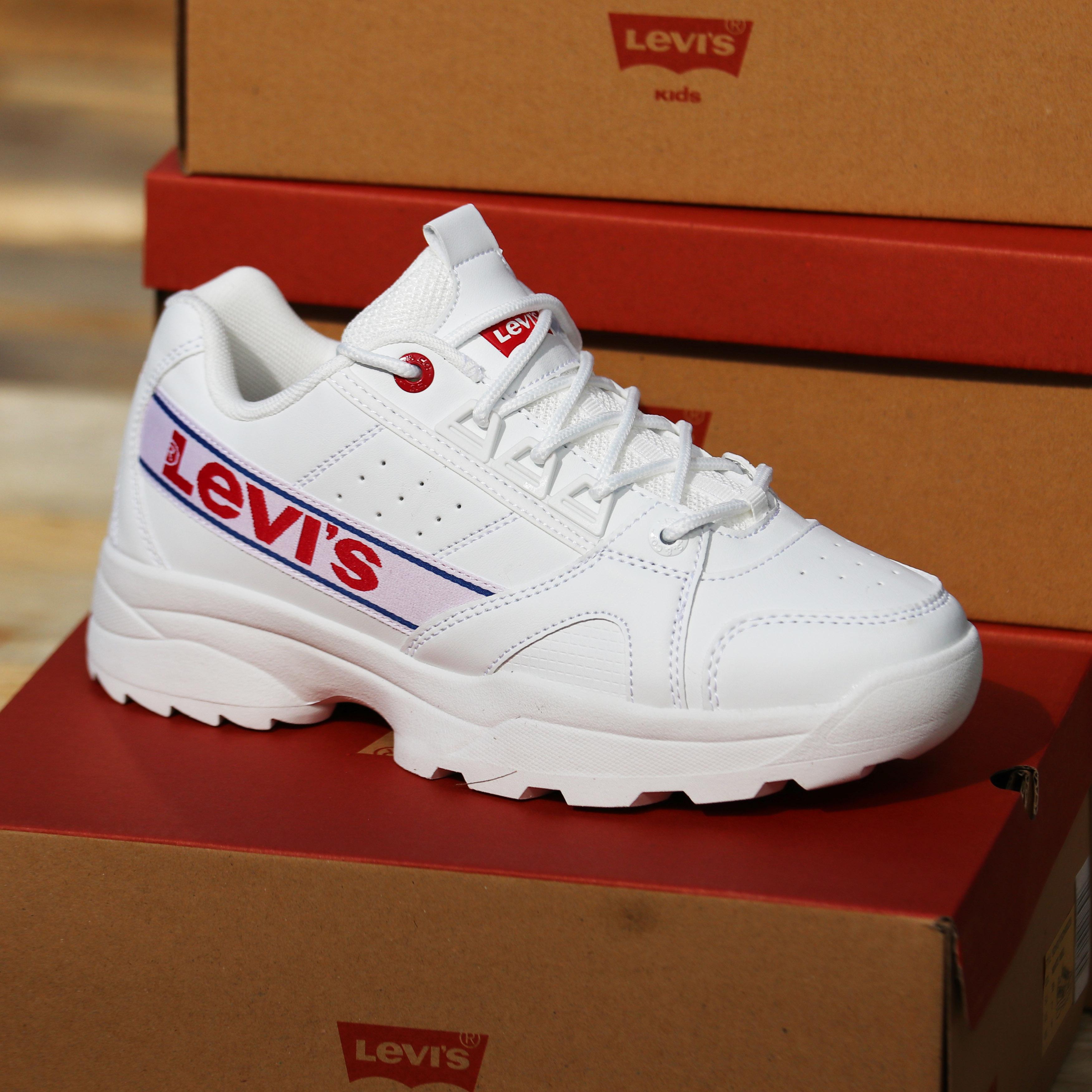 levis – soho – hvit:rød:blå sko barn dame1