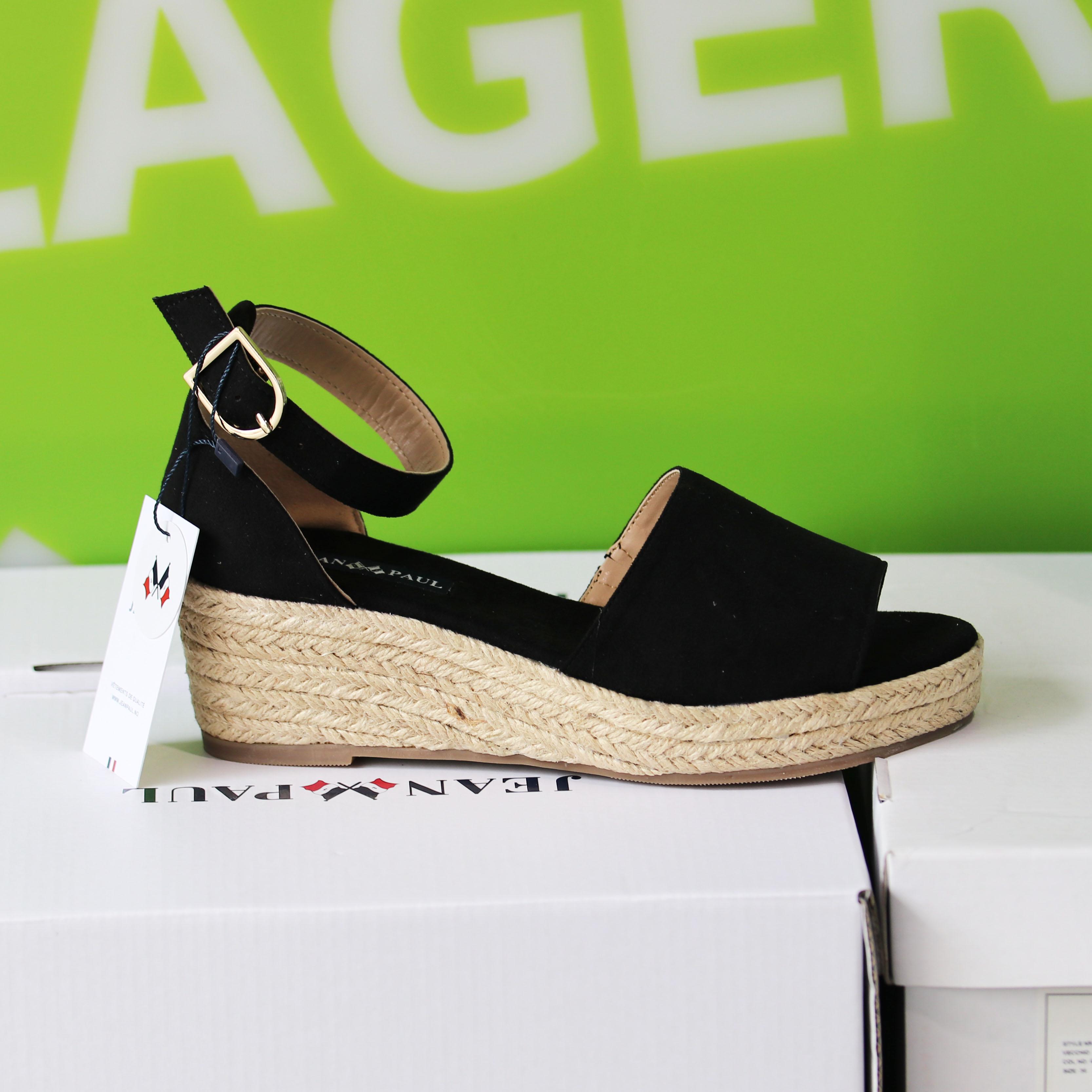 jean paul – miraval black sandal dame sommersko3