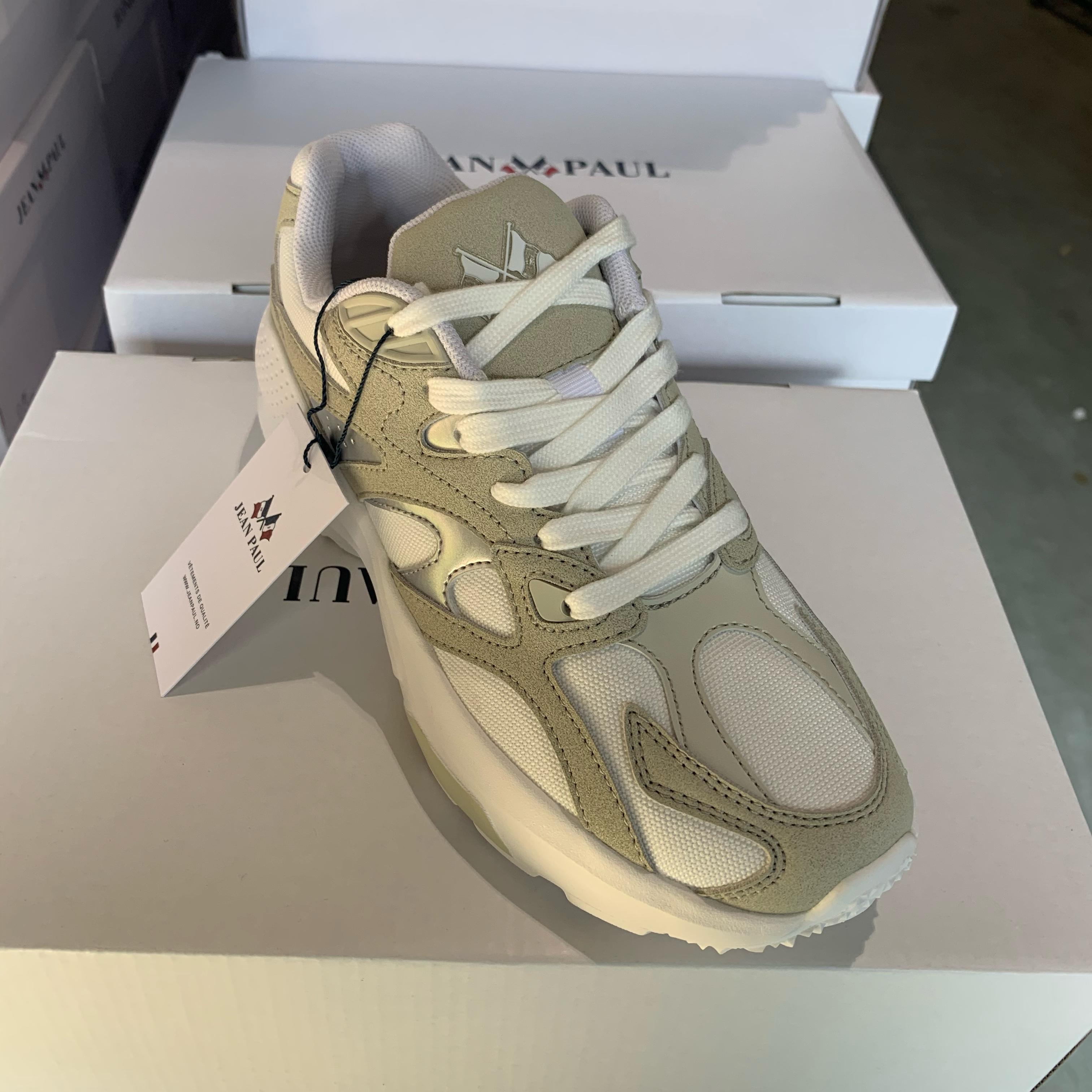 jean paul aix chunky sneakers white beige3