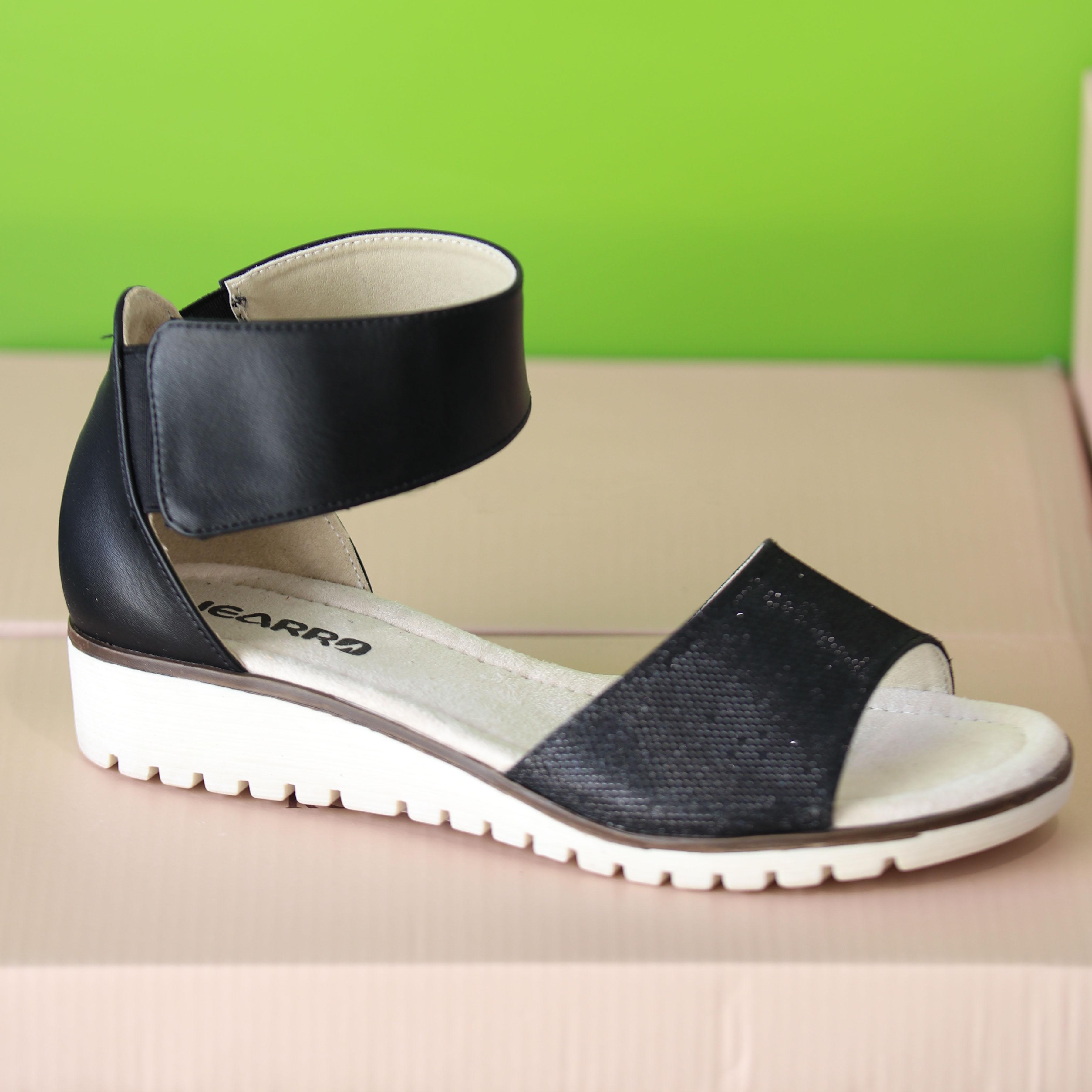 jearro sandal sort dame sommer1