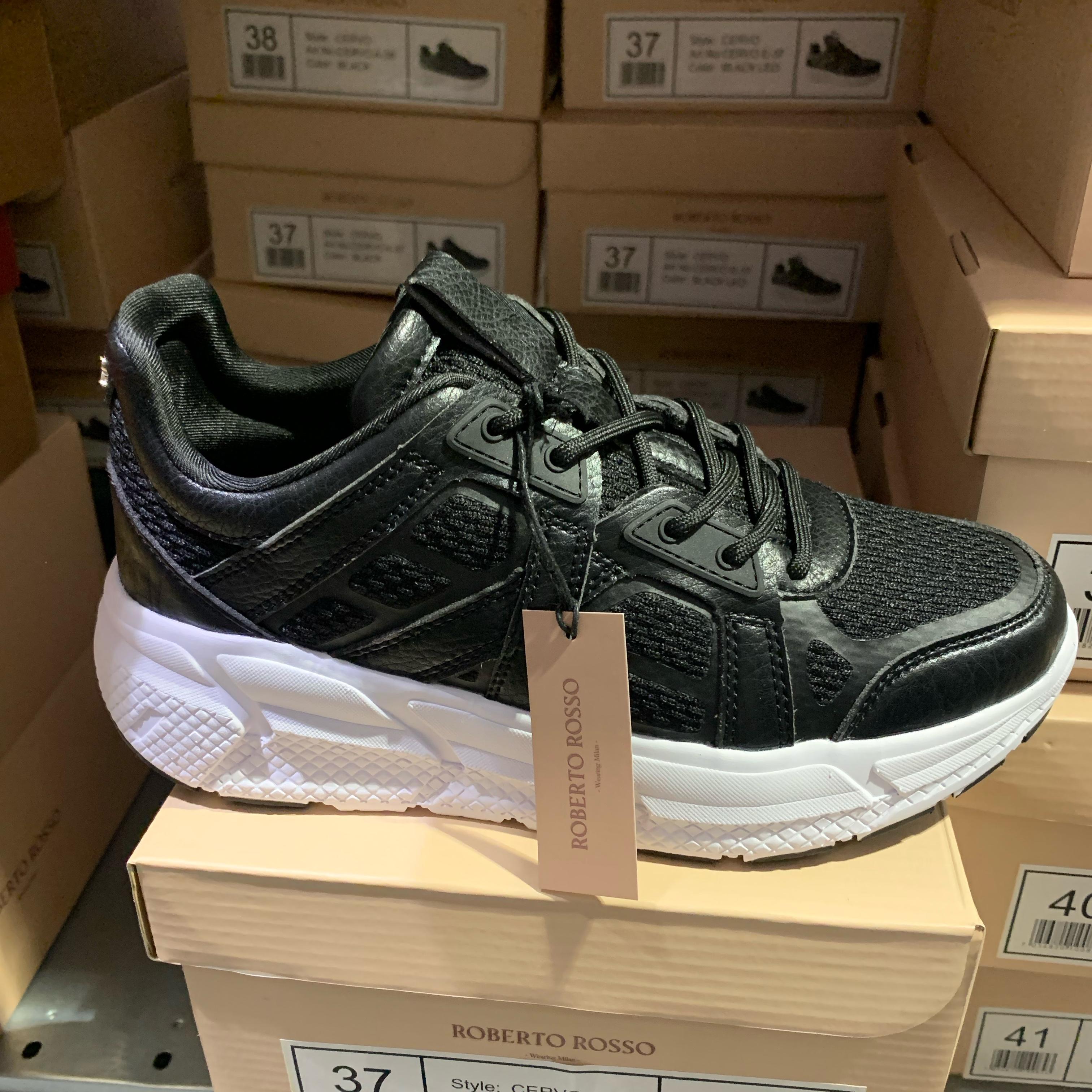 roberto rosso – cervo black chunky sneakers dame sko nyheter1