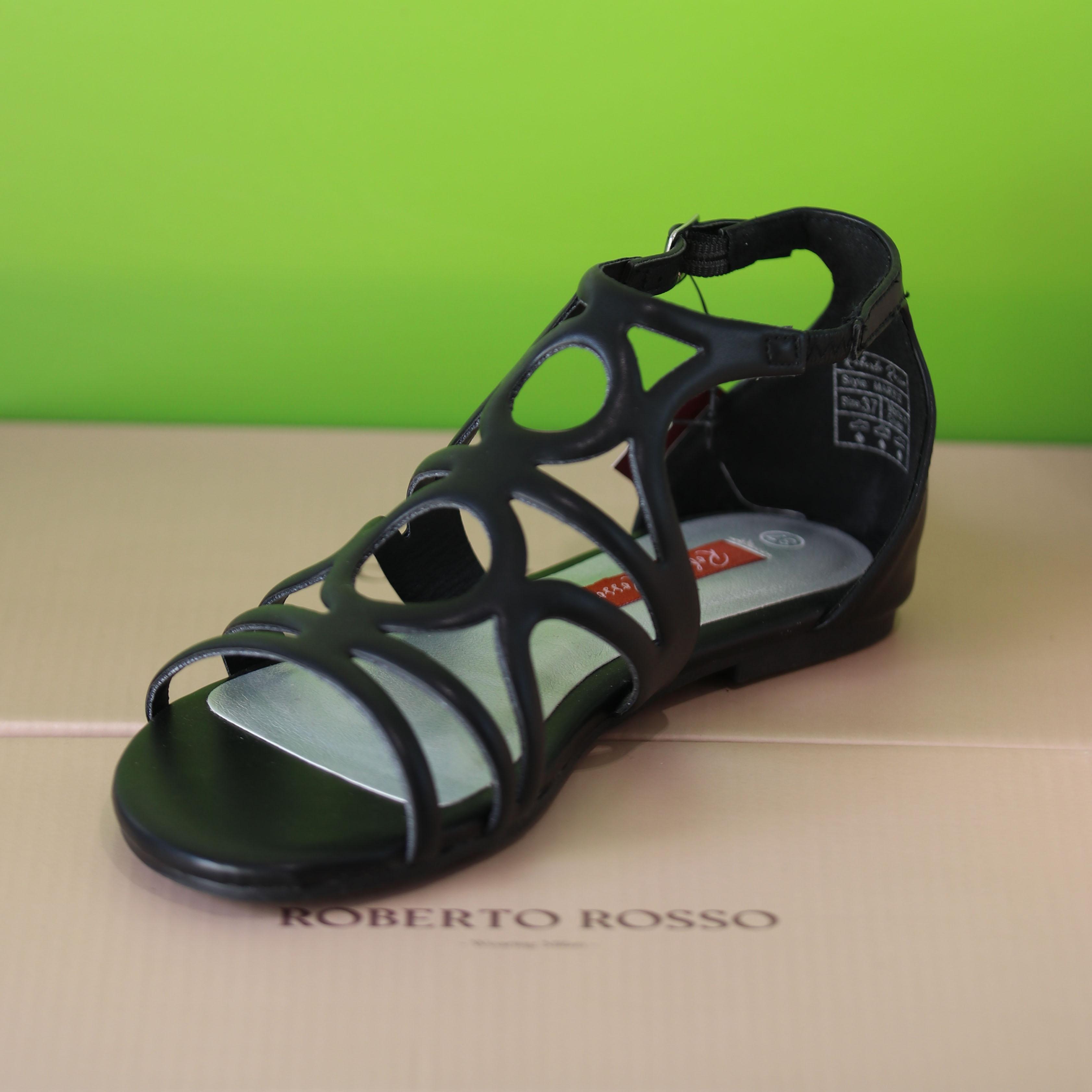 roberto rosso – martis sort sandal dame1