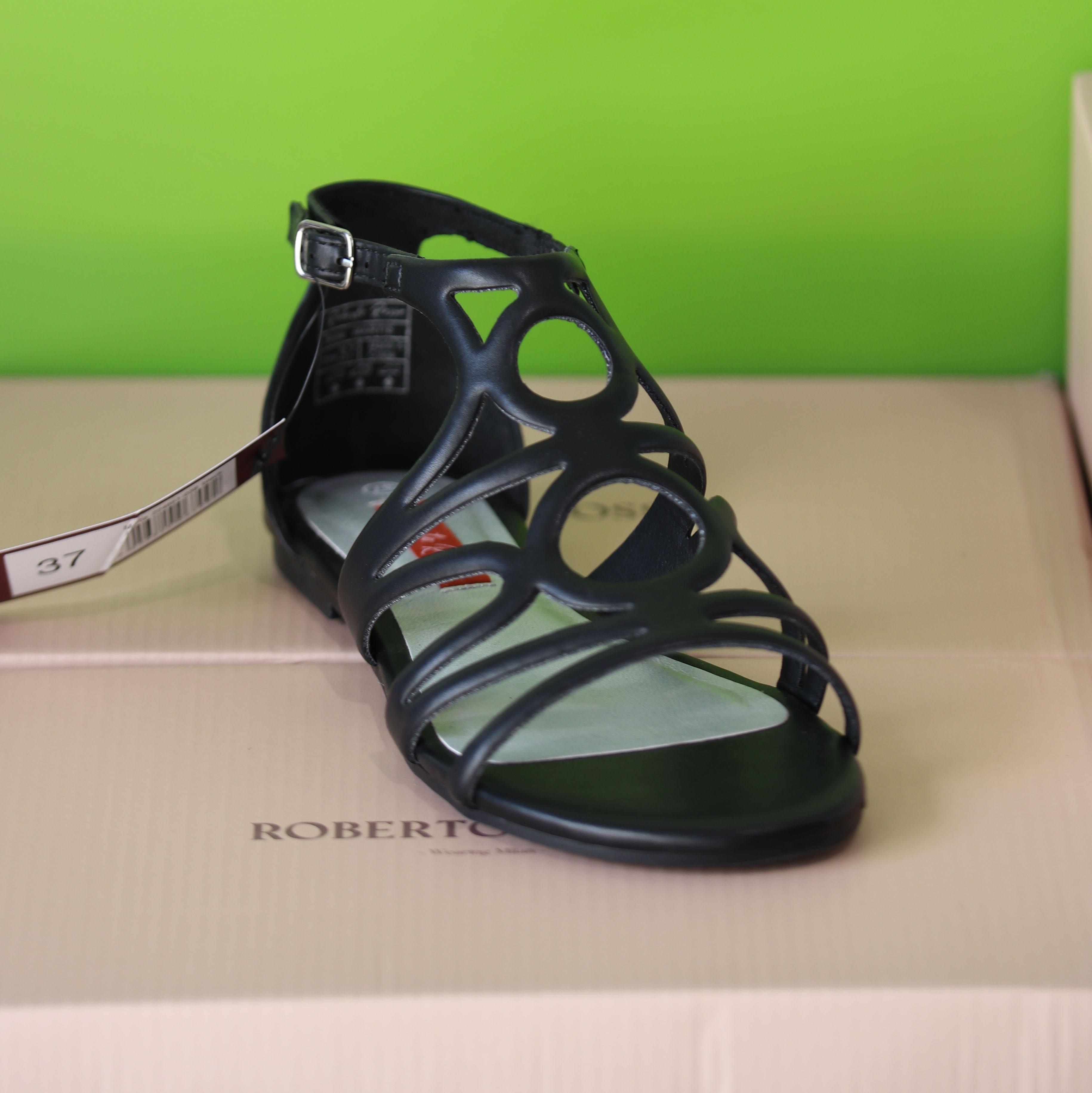 roberto rosso – martis sort sandal dame2