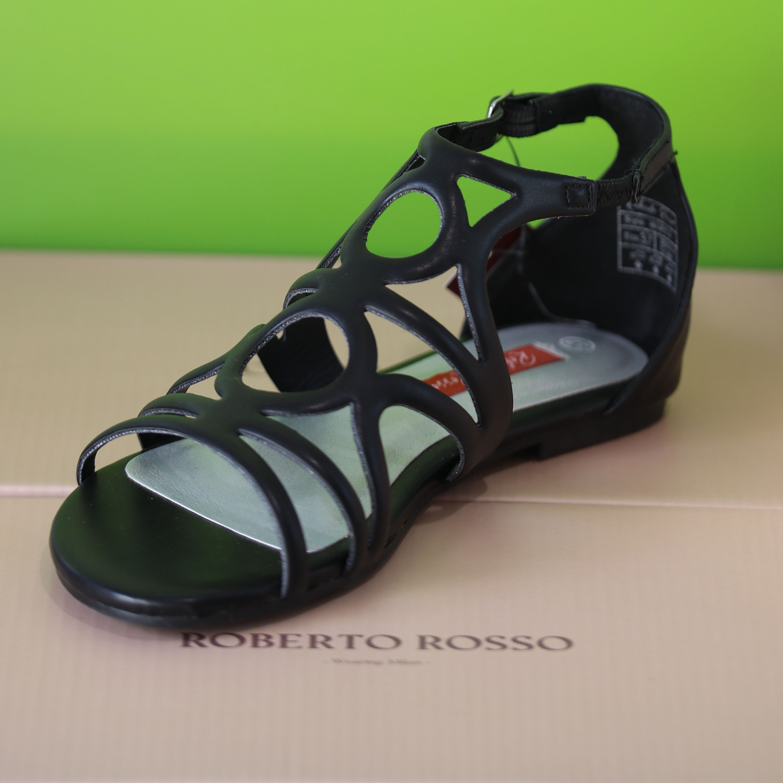 roberto rosso – martis sort sandal dame3