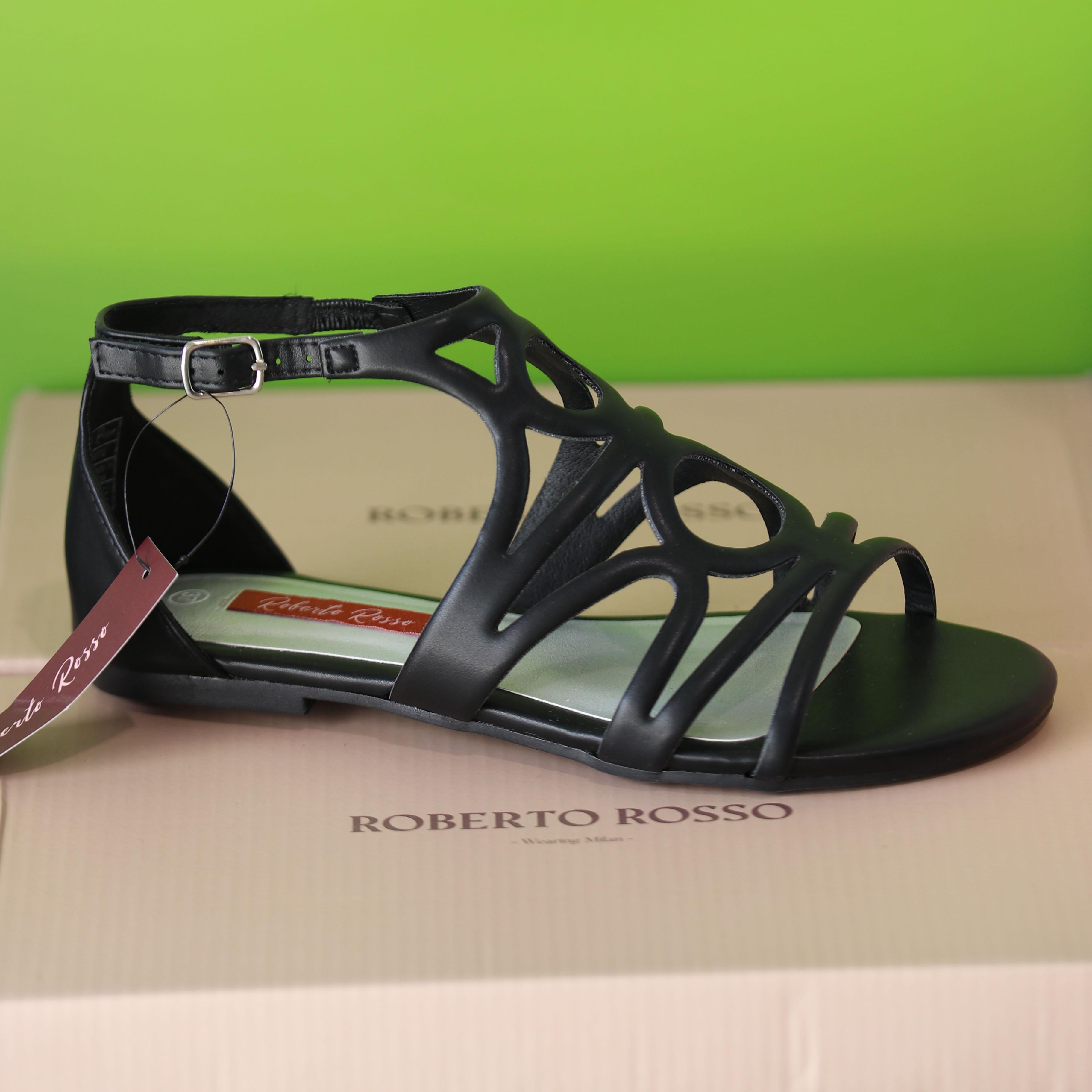 roberto rosso – martis sort sandal dame4