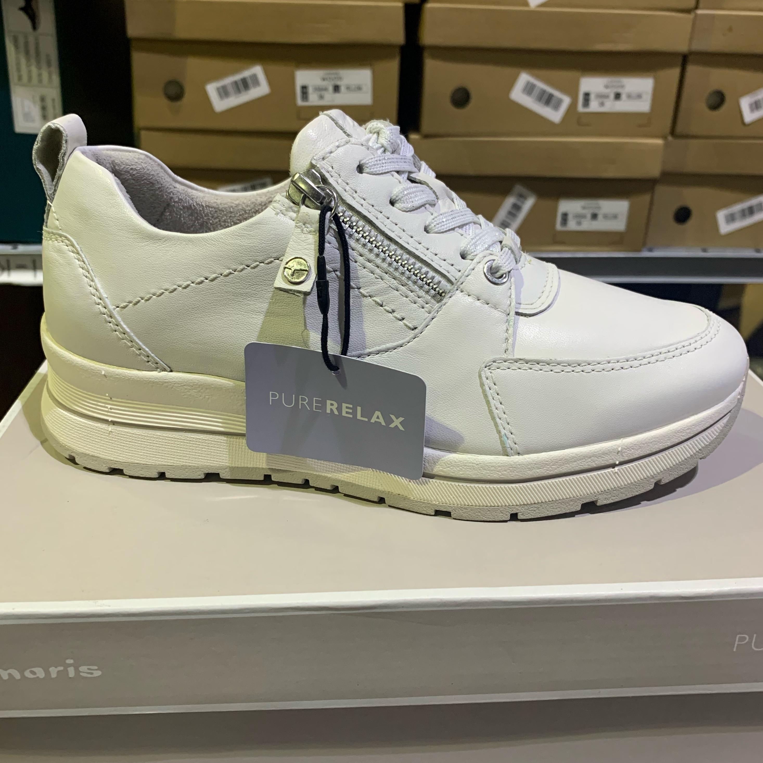 tamaris uni white leather sneakers dame sommesko1