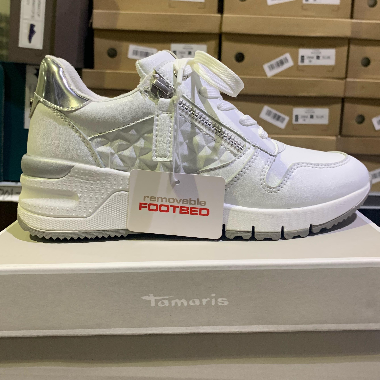 tamaris white uni wedge sneakers dame sommer3