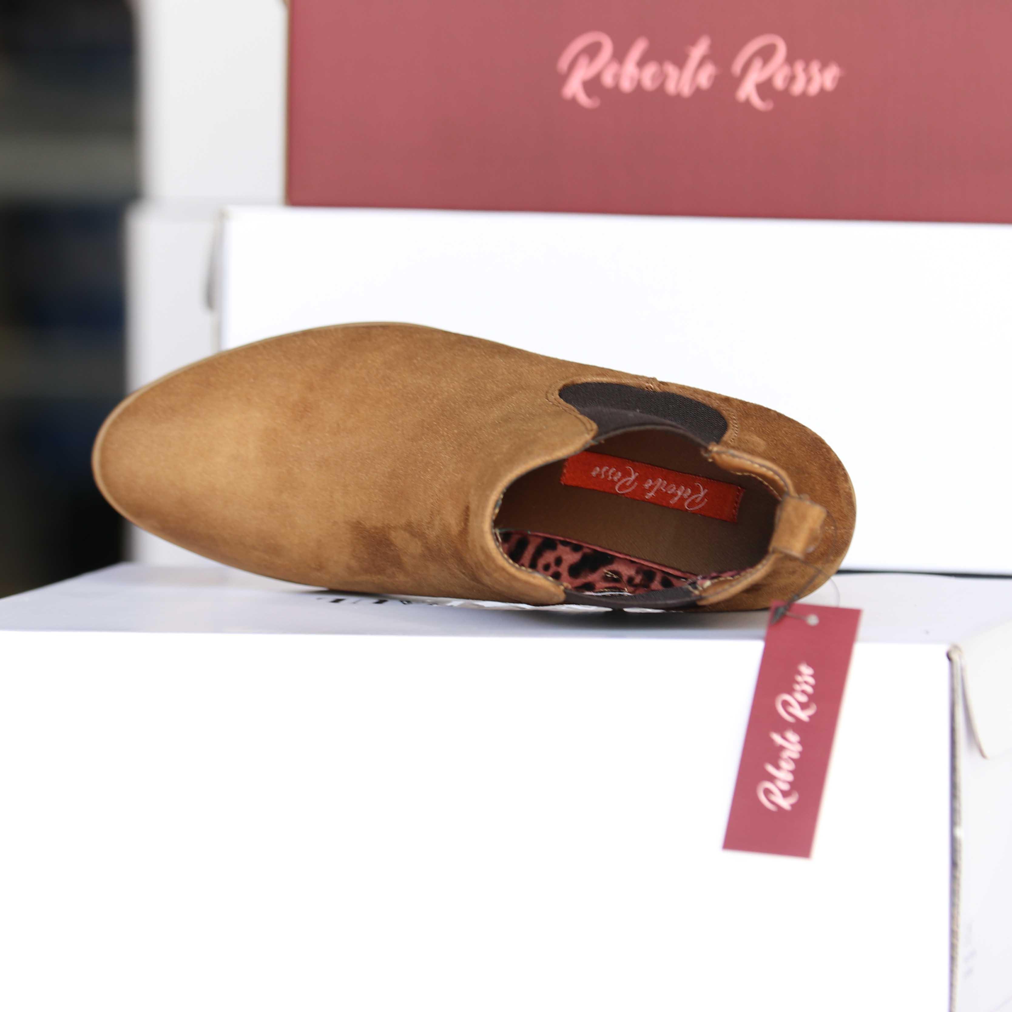 roberto rosso – brownboot brun dame skoletter og boots høst4