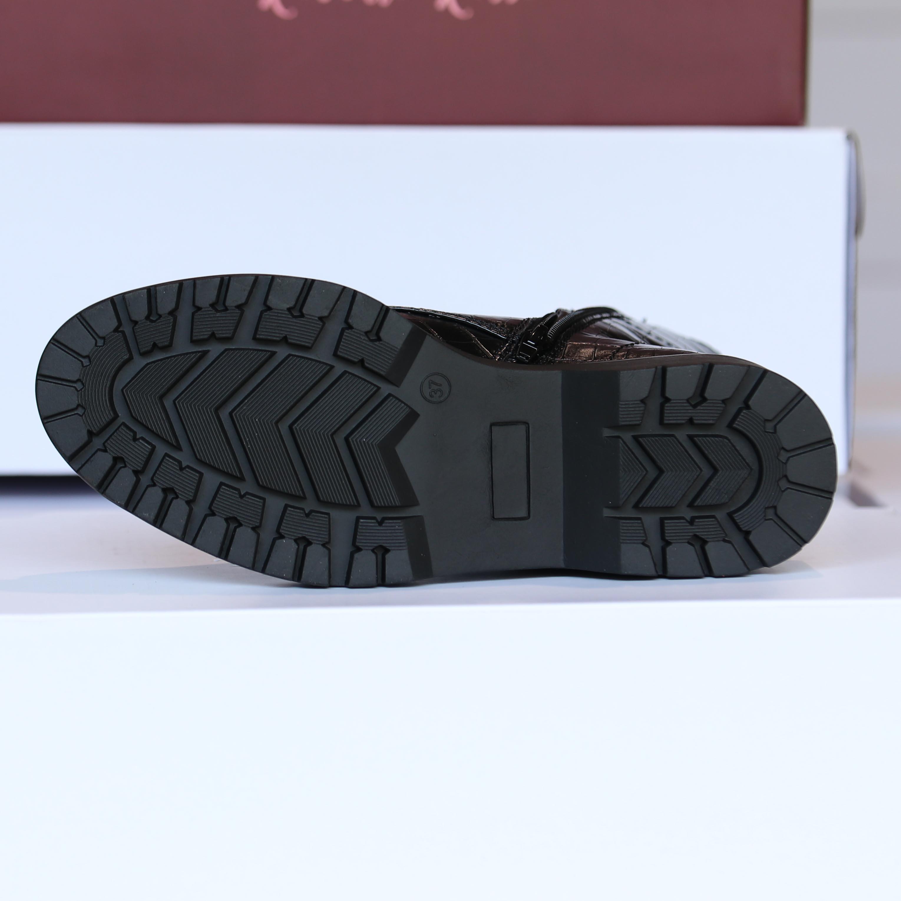 roberto rosso – gavazzi black croco boots dame høst3