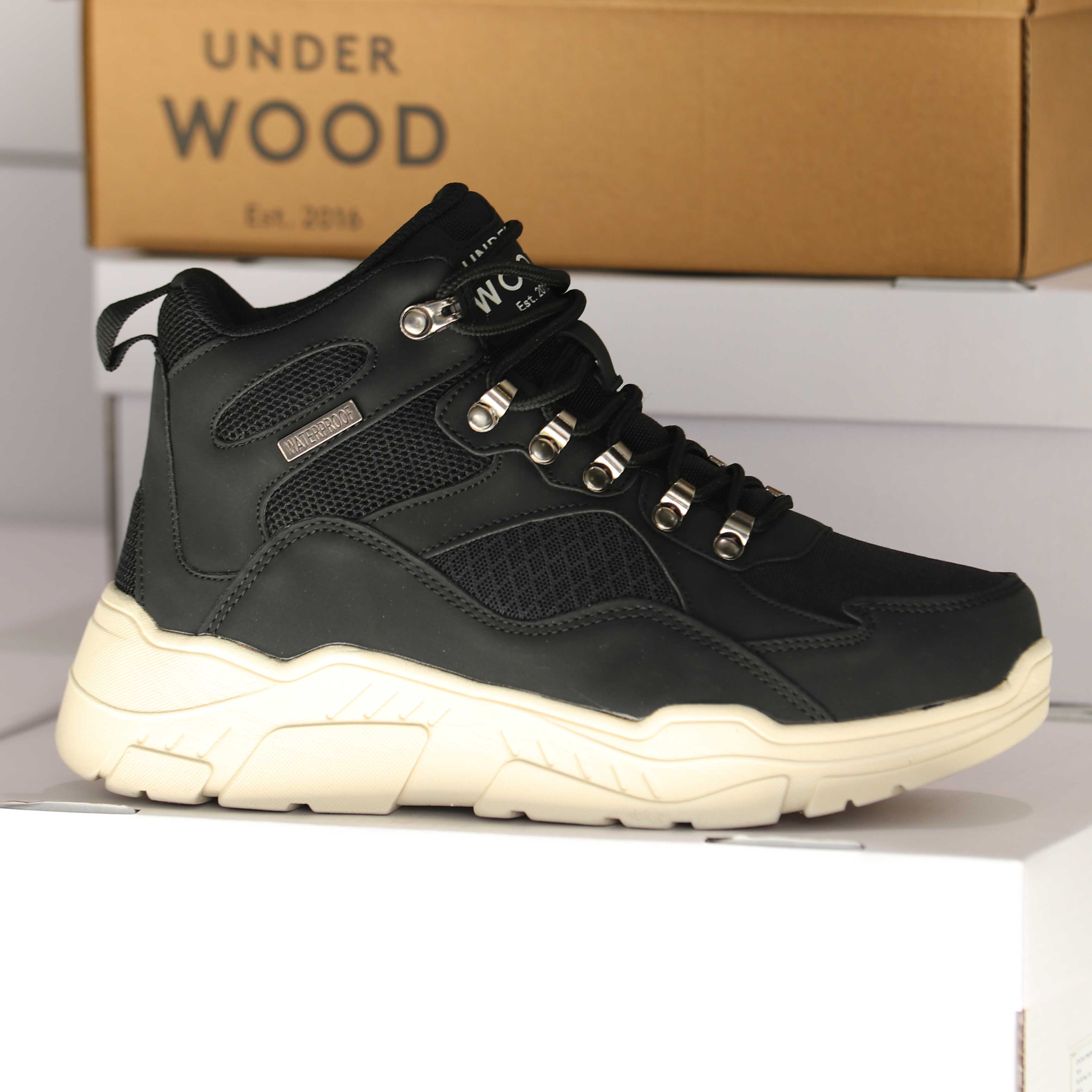 under wood – discovery black 25838 dame sko 5