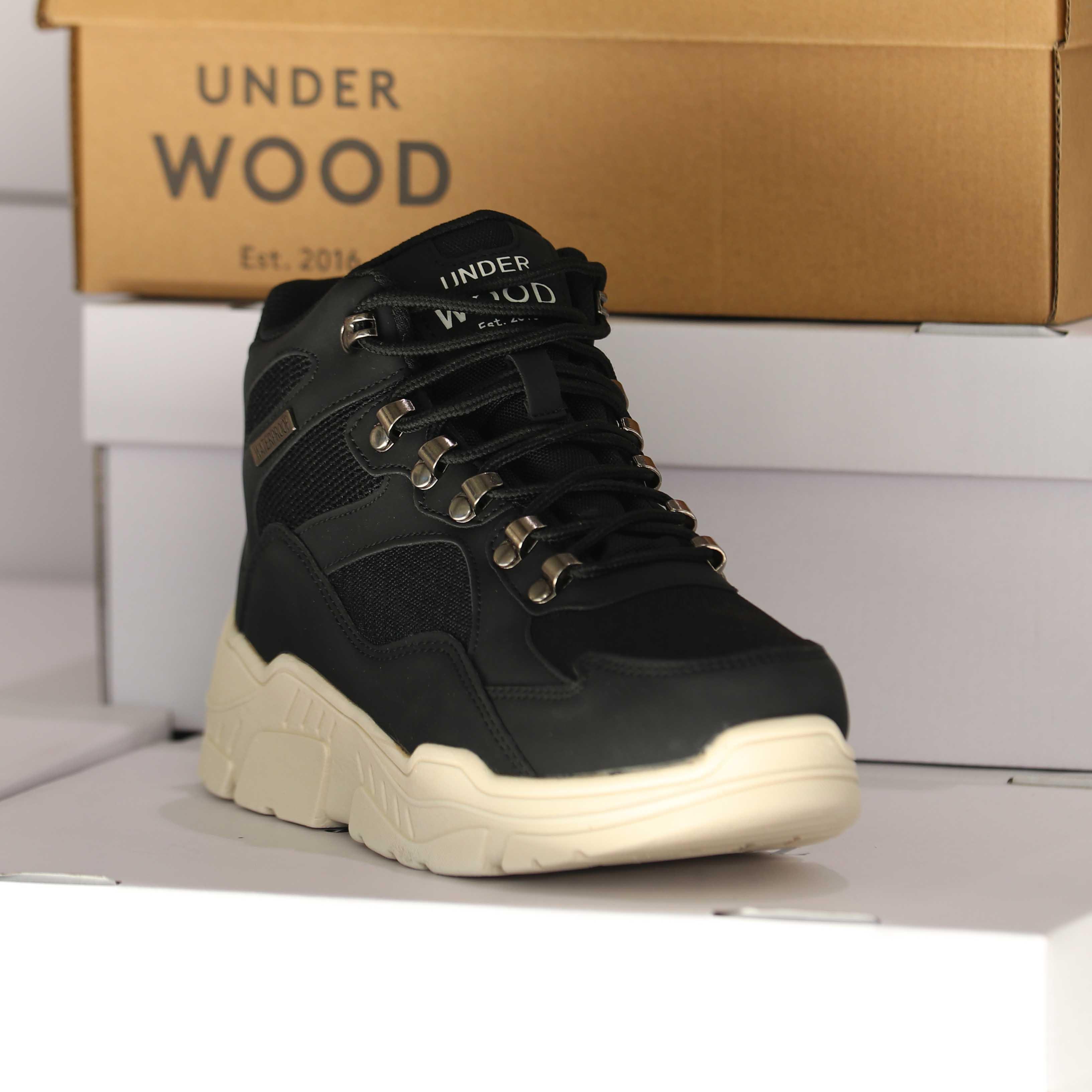under wood – discovery black 25838 dame sko 6