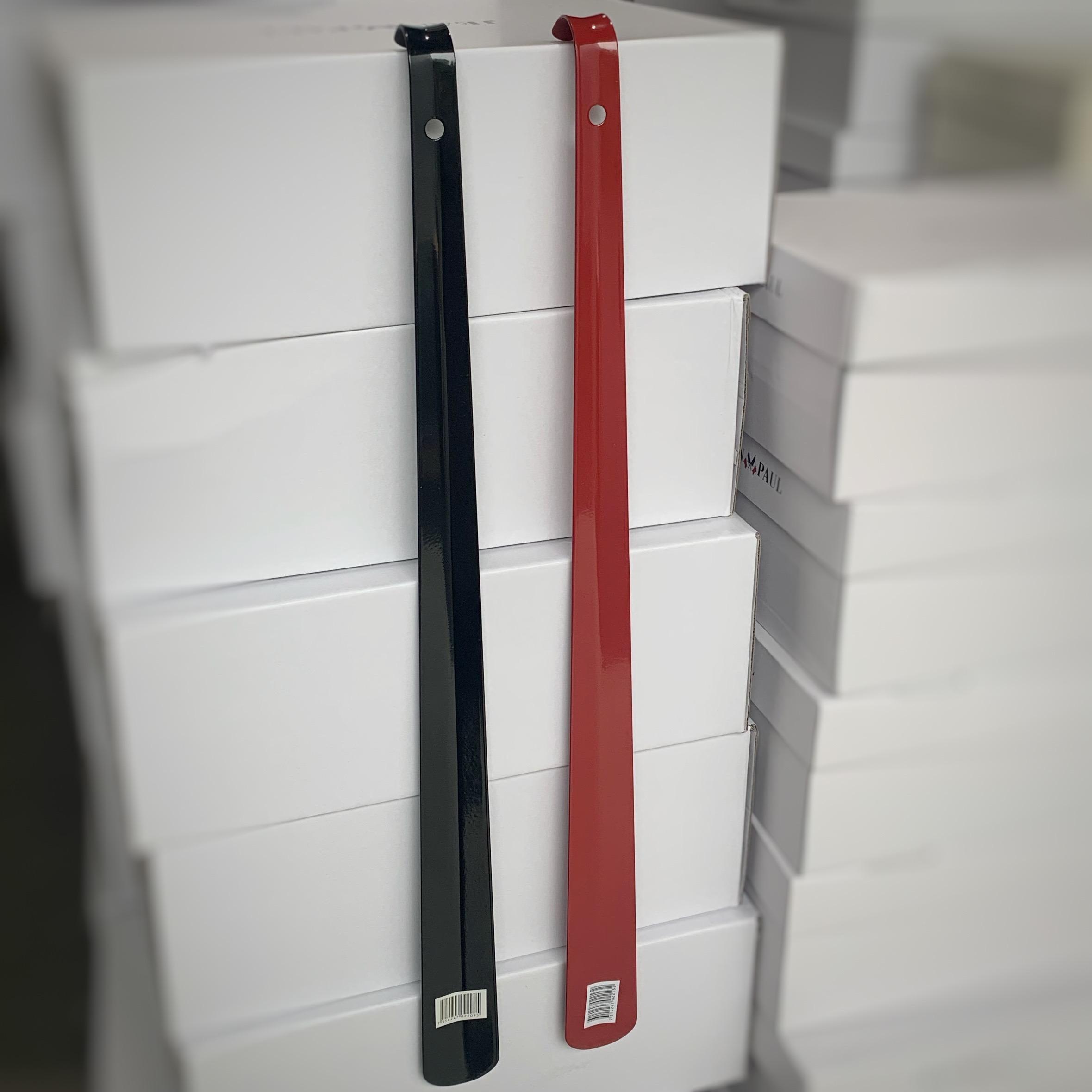 skohorn metal 60cm rød sort1