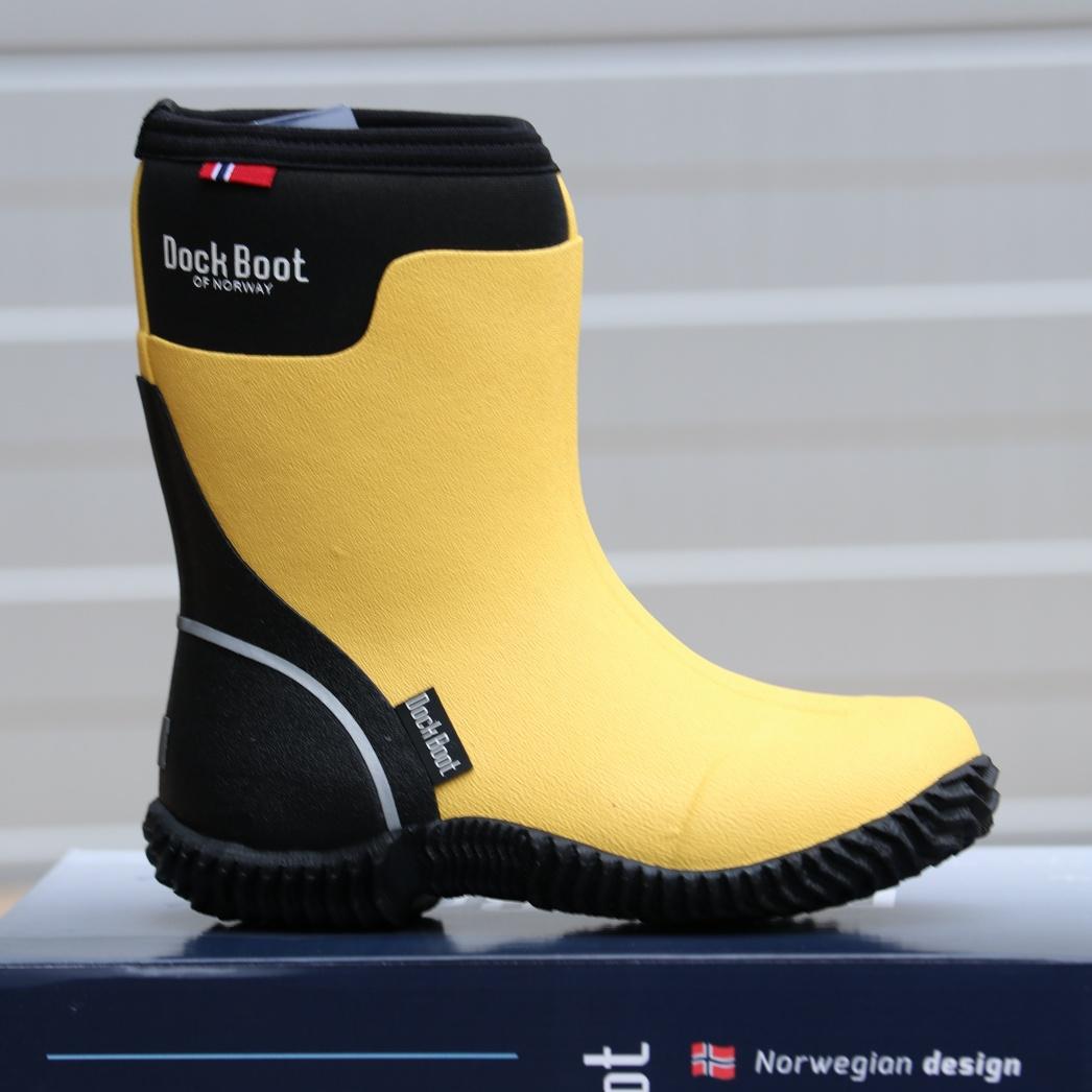 dockboot gul gummistøvel barn4